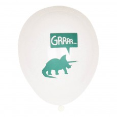 Ballons dinosaure en latex - Lot de 5 Vert