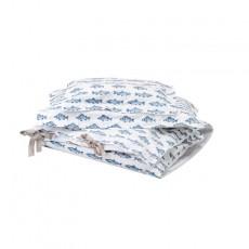Parure de lit - Poissons Bleu