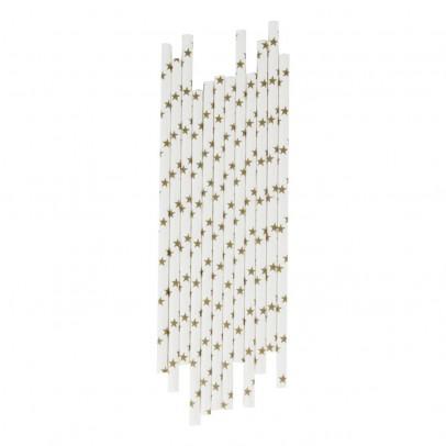 Image du produit Pailles étoiles dorées - Lot de 25 Doré