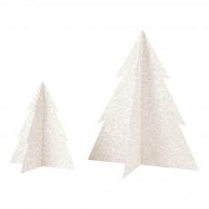 Sapin de Noël pailleté - Blanc