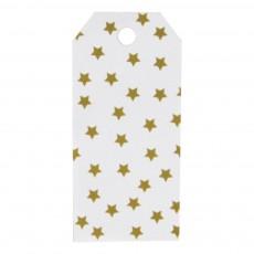 Etiquette cadeau étoiles dorées - Lot de 12 Doré