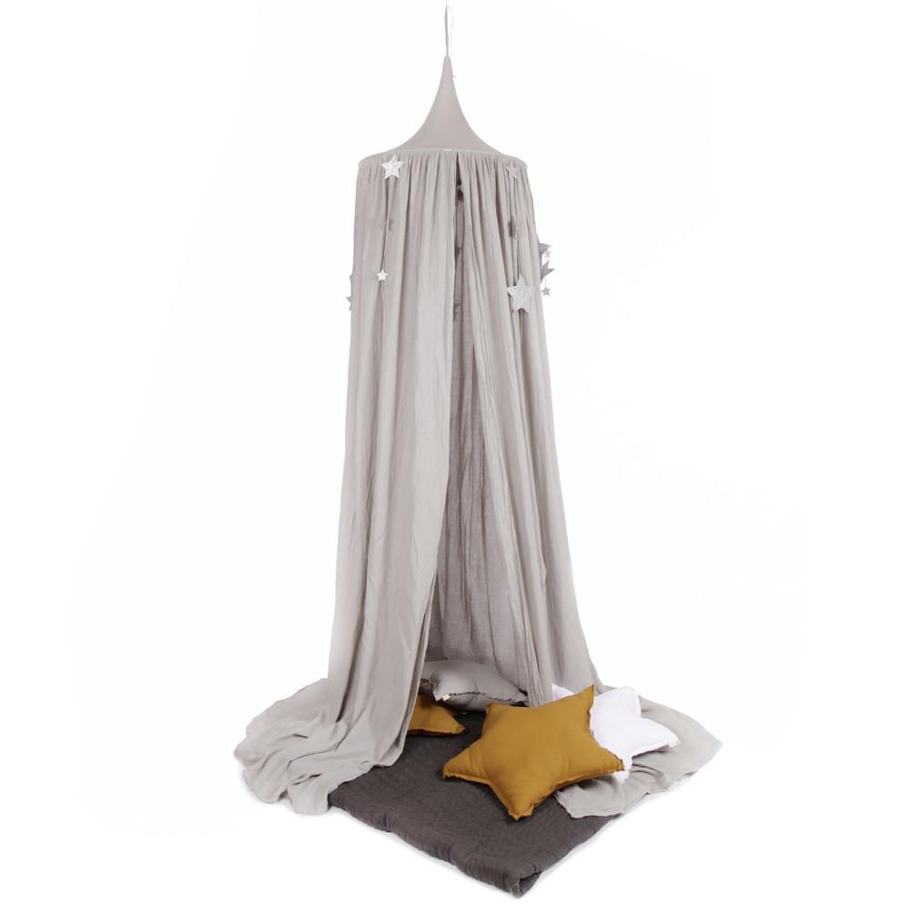 Ciel de lit toiles pailletes num ro 74 x smallable gris numero 74 d coration smallable - Ciel de lit gris ...