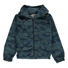 Coupe Vent Capuche Camouflage Holbox Gris anthracite