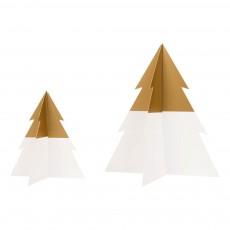 Sapin de Noël bicolore - Doré