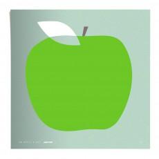 Affiche Pomme 50x50 cm édition limitée Vert