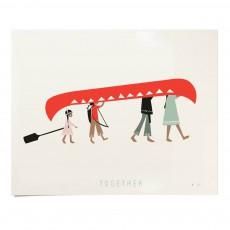 Affiche Together 30x24 cm édition limitée Multicolore