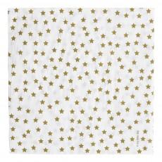 Serviettes en papier étoiles dorées - Lot de 20 Doré