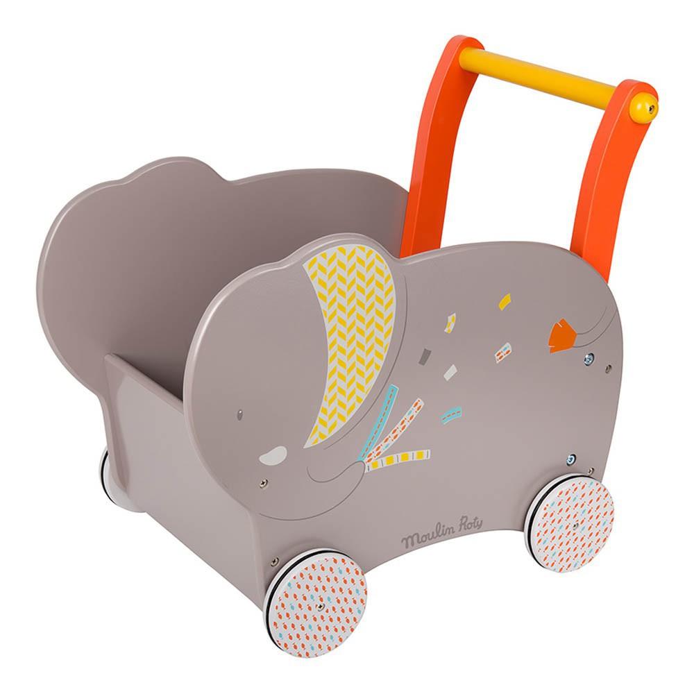 Chariot de marche l phant gris moulin roty jeux jouets loisirs enfant - Report de paiement de 3 mois par cb ...