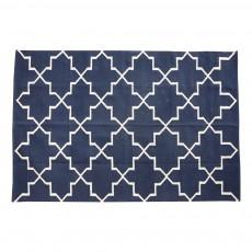 Tapis motifs géométriques 120x180 cm Bleu