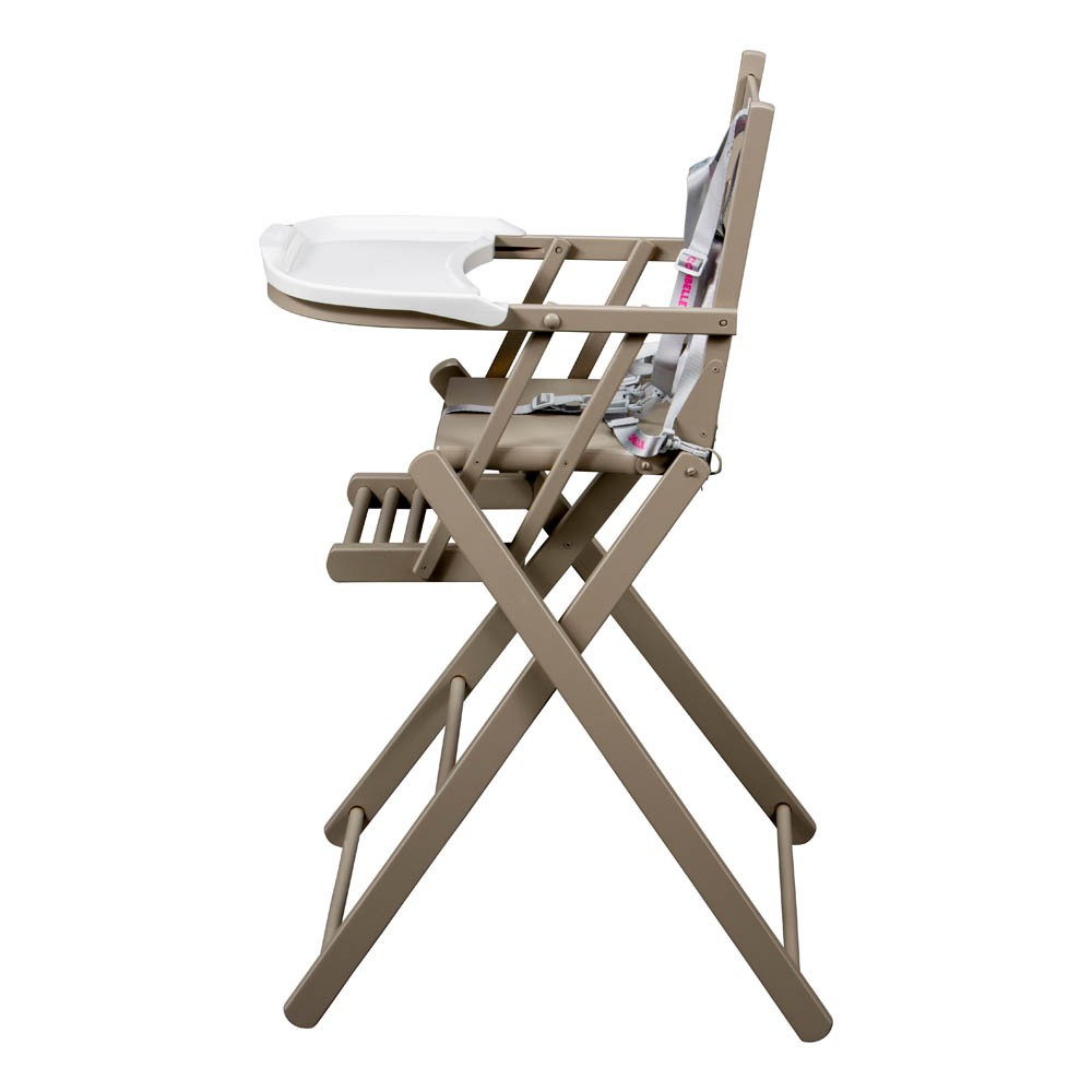 Chaise haute extra pliante gris combelle univers b b for Chaise haute combelle pliante