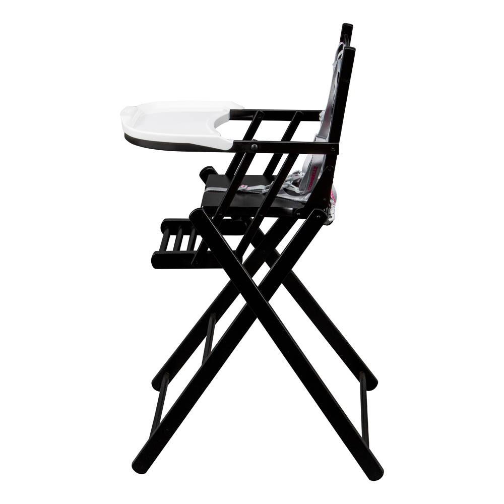 chaise haute extra pliante noir combelle univers b b. Black Bedroom Furniture Sets. Home Design Ideas