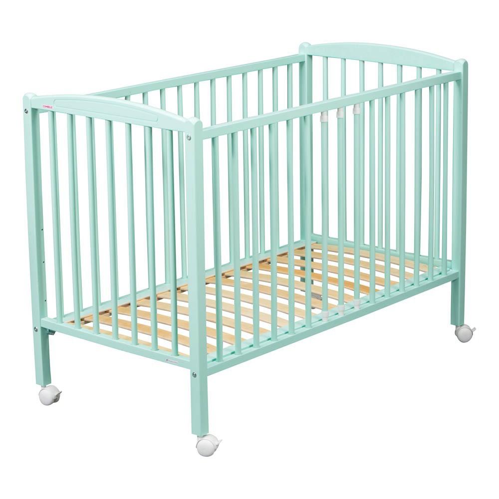 lit b b arthur 70x140 cm laqu vert amande combelle mobilier smallable. Black Bedroom Furniture Sets. Home Design Ideas