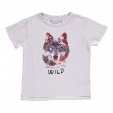 T-Shirt Loup Wild  Blanc