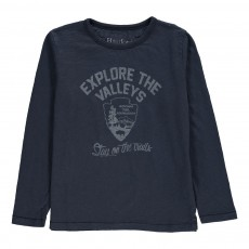 T-Shirt Explore The Valleys Bleu marine