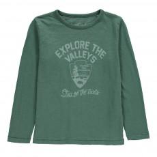 T-Shirt Explore The Valleys Vert argile