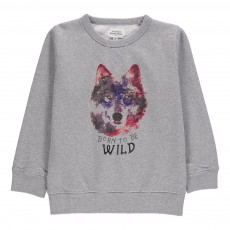 Sweat Loup Wild Gris chiné