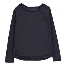 T-Shirt Bi-matière Terry Gris anthracite