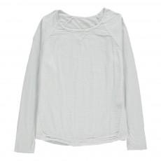 T-Shirt Bi-matière Terry Gris perle