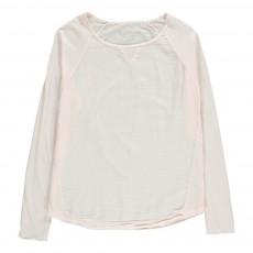 T-Shirt Bi-matière Terry Rose pêche