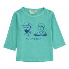 T-Shirt Manches 3/4 Vincent et Pablo Bleu turquoise