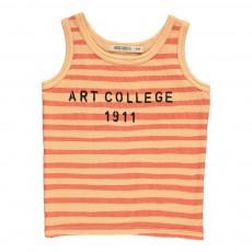 Débardeur Rayé Art College 1911 Abricot