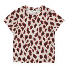 T-shirt Léopard Mini Standard Ecru