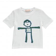 T-shirt Bonhomme Blanc