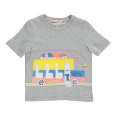 T-shirt Bus Gris chiné