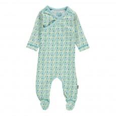 Pyjama Pieds Coton Bio Otto Bleu