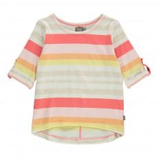 T-Shirt Rayé Manches 3/4 Mikey Rose