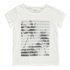 T-Shirt Palmiers Blanc cassé