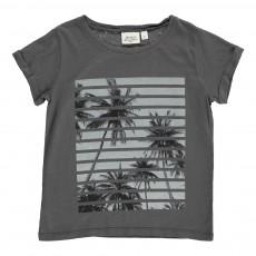 T-Shirt Palmiers Gris charbon