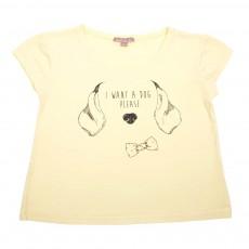 T-Shirt Chien Jaune pâle