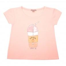 T-Shirt Milkshake Rose pêche