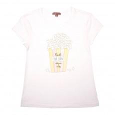 T-Shirt Pop Corn Ecru