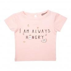 "T-Shirt ""I'm Always Hungry"" Rose pâle"