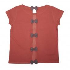 T-Shirt Nœuds Dos Rouge brique