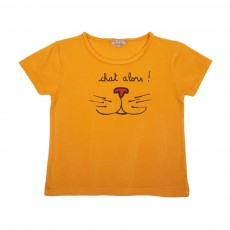 "T-Shirt ""Chat Alors"" Ocre"