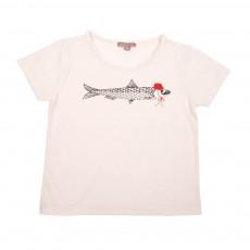 T-Shirt Sardine Chapeau Ecru