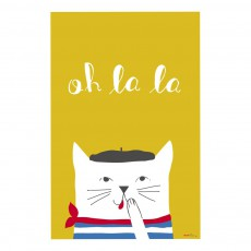 Affiche French cat 60x40 cm