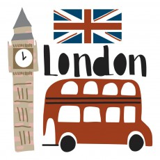 Mini stickers Londres