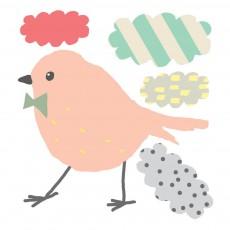 Mini stickers Oiseau et nuages