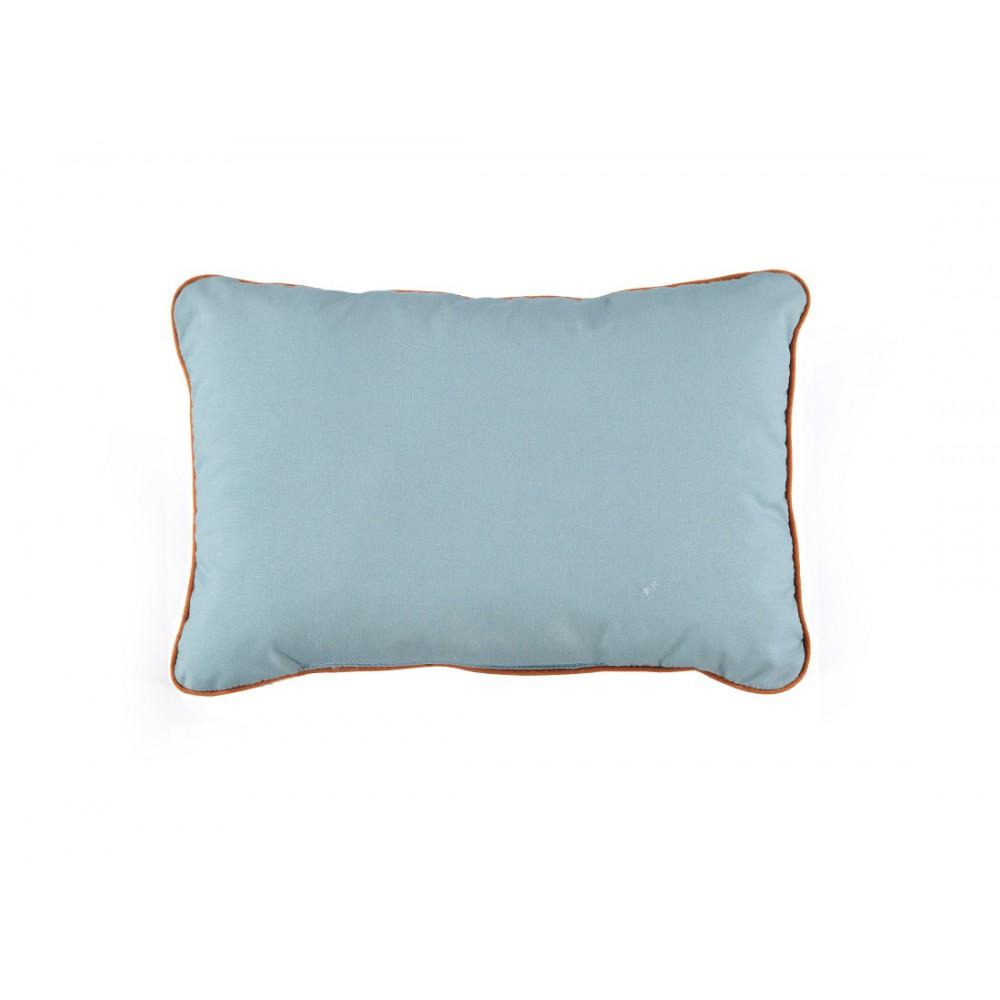 coussin en coton garni rectangle bleu ciel nobodinoz. Black Bedroom Furniture Sets. Home Design Ideas