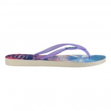 Tongs Palmiers Paysage Violet