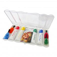 Pinceaux pour doigt avec peinture couleurs primaires Multicolore