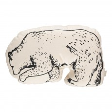Coussin Ours 30x20 cm Blanc