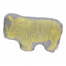Coussin Rhinocéros 30x20 cm Gris