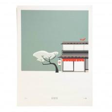 Affiche Kyoto 30x40 cm édition limitée Multicolore
