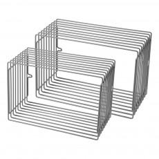 Etagères métal rectangle - Lot de 2 Gris