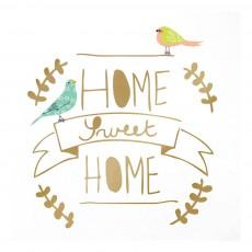 Sticker Home sweet home Doré